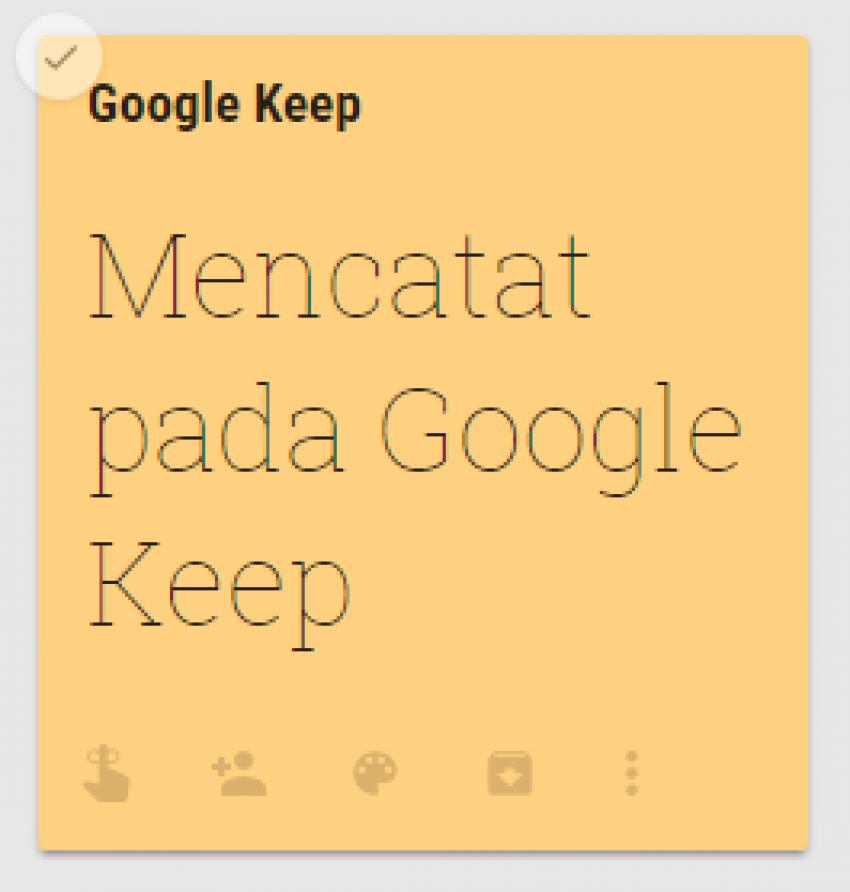 google keep penunjang catatan seharihari