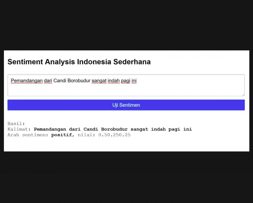 web based sentiment analysis bahasa indonesia dengan metode naive bayes